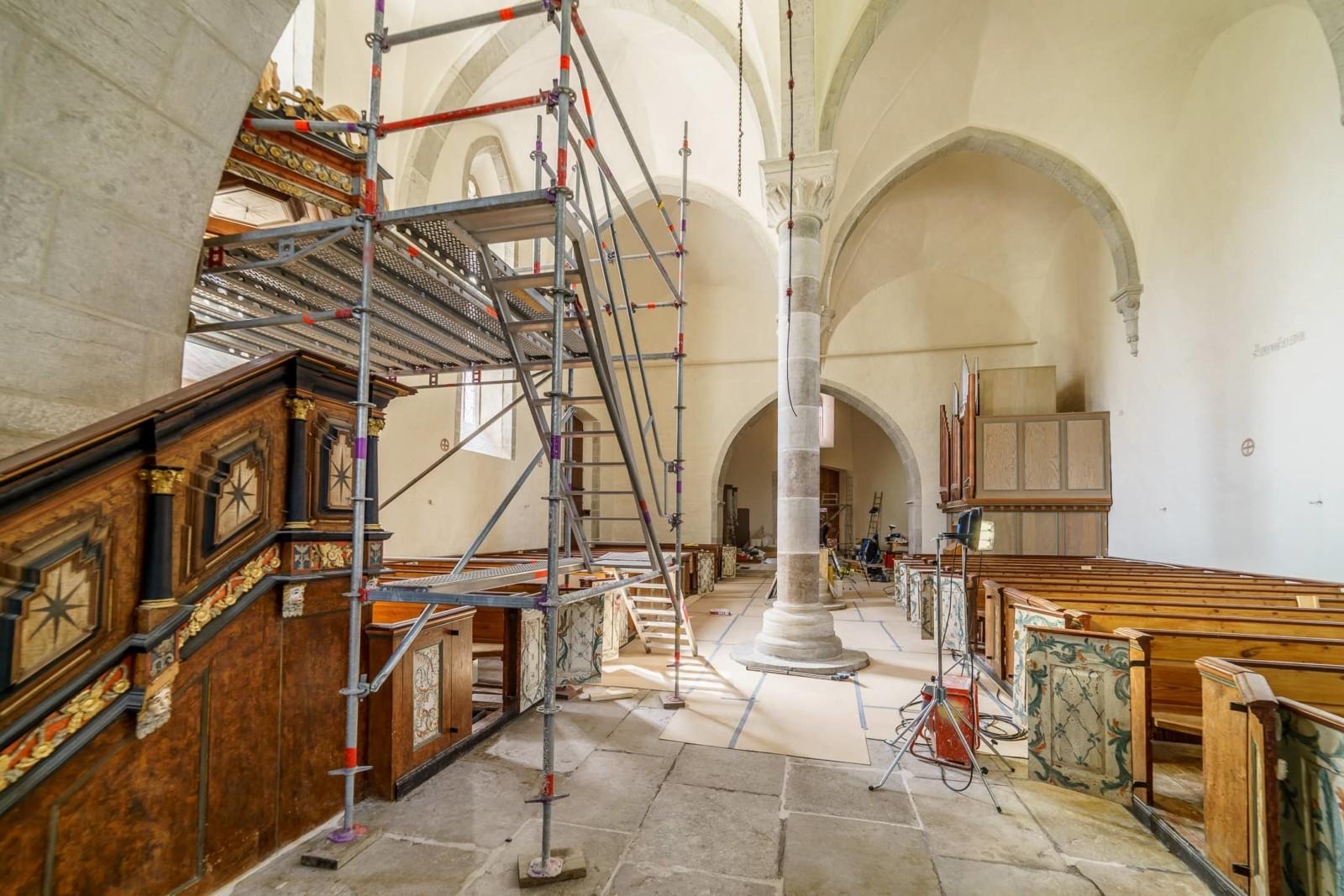 Interiör Lärbro kyrka