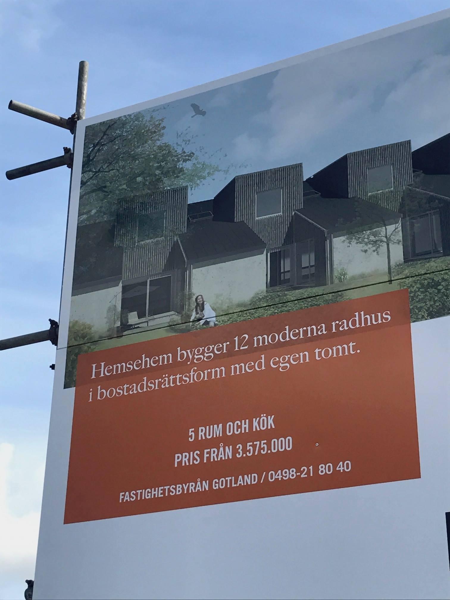 Nu drar vi igång bygget av 12 fina radhus i kvarteret Malajen vid A7 några minut... 2