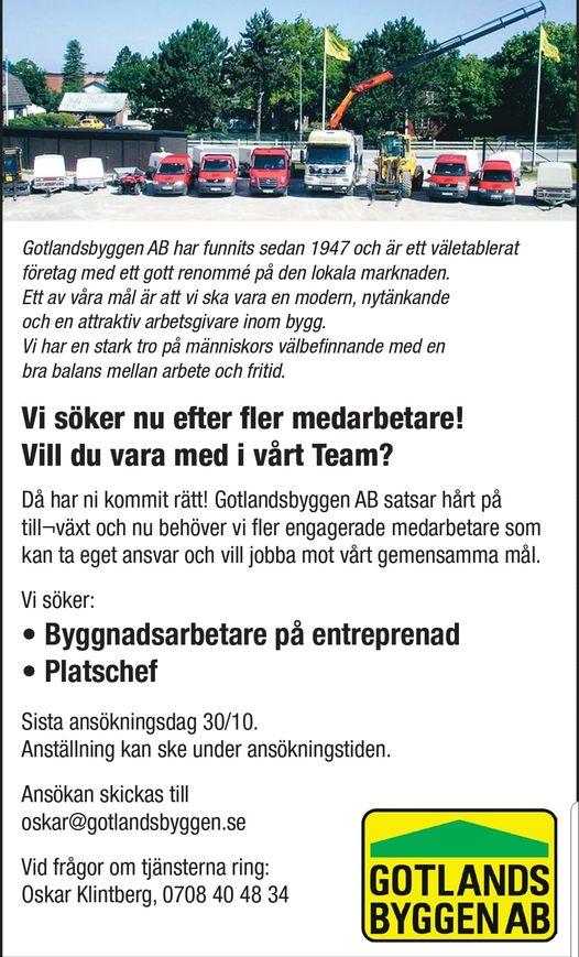 Är du den vi söker? Just nu söker vi nya medarbetare till vårt Team. Skicka in... 1